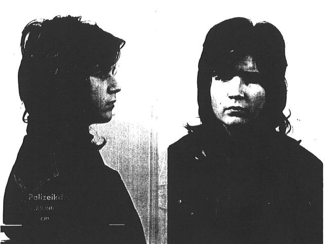 Schwarzweiss Foto, von der Seite und von Vorne