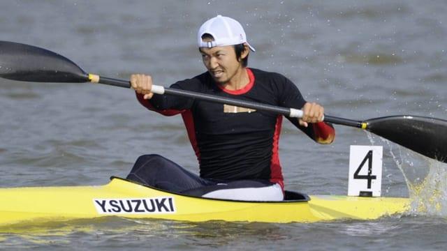 Kanute Yasuhiro Suzuki bei einem Wettkampf