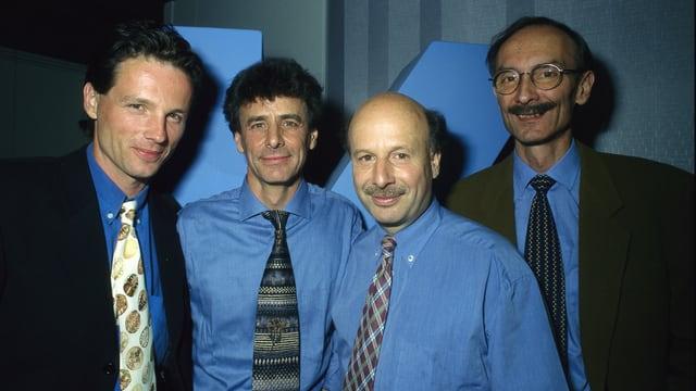 Ueli Schmezer, Hansjörg Utz, Hans Räz und Urs P. Gasche 1996
