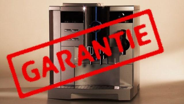 Kaffeemaschine mit Garantiestempel