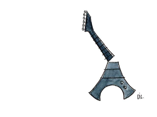 Eiffelturm mit Gitarrenhals