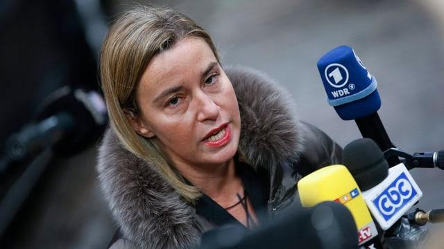 EU-Aussenbeauftragte Federica Mogherini in Brüssel