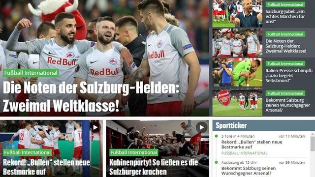 Screenshot Kronen-Zeitung