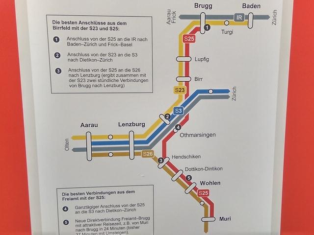 Linienplan der S25.