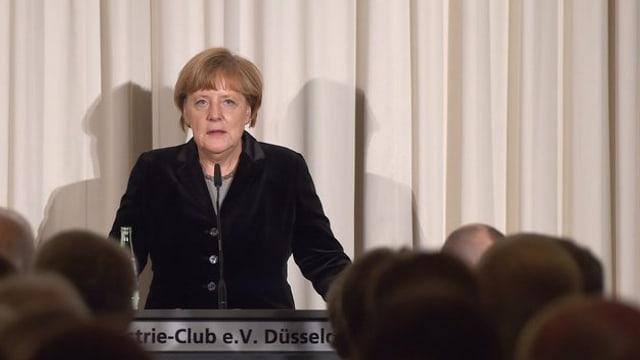 Angela Merkel tar il pled a Düsseldorf