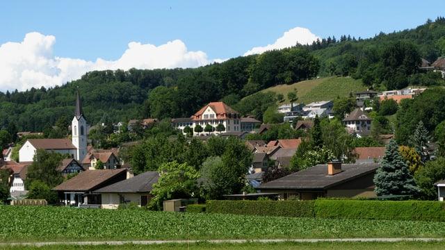 Dorf Dottikon im Sommer.
