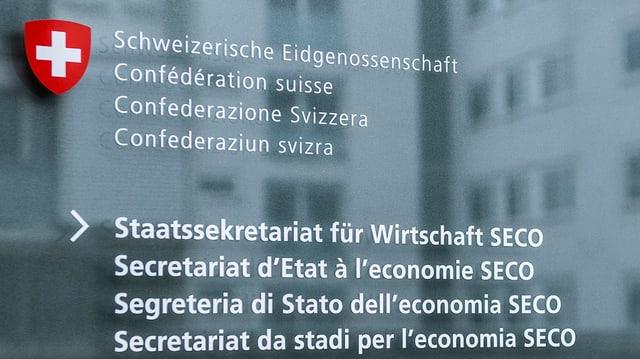 Scrittira dal SECO a Berna.