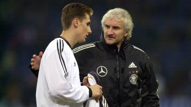 Miroslav Klose und Rudi Völler.