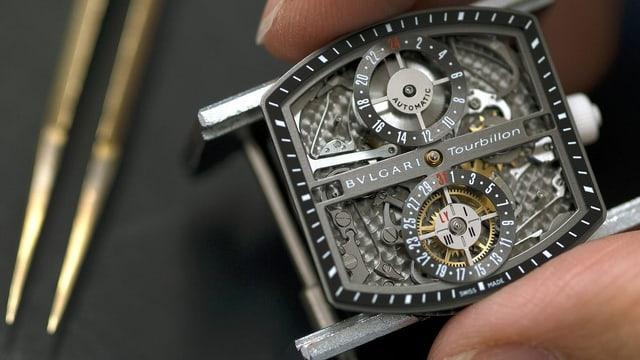 Ein Uhrwerk der Marke Bulgari.