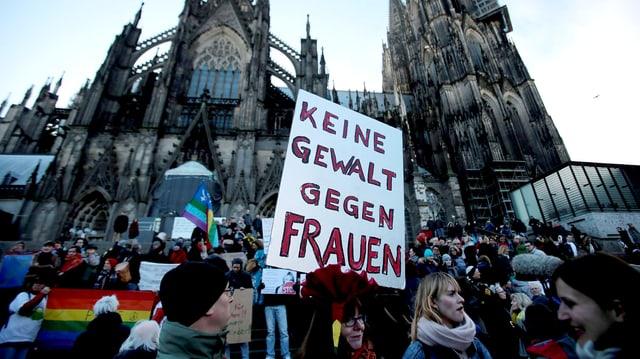 Nach den Vorfällen vom Silvester: Demonstration in Köln am 9. Januar 2016.