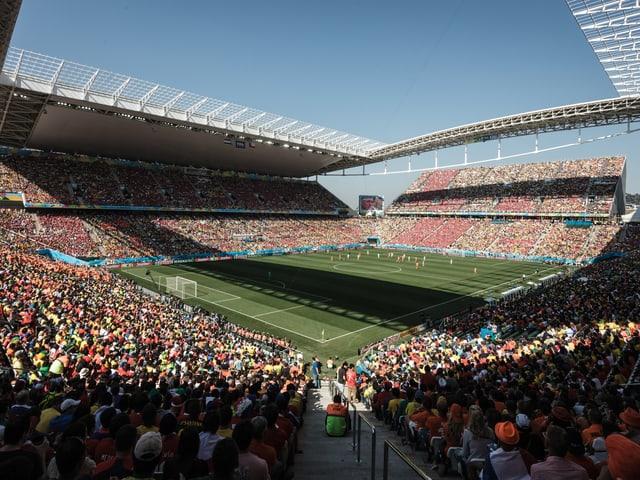 Das Duell zwischen Chile und den Niederlanden in der Arena Sao Paulo