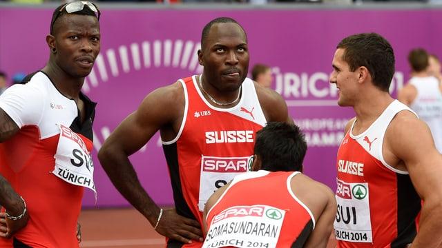 Schweizer Sprint-Staffel versammelt