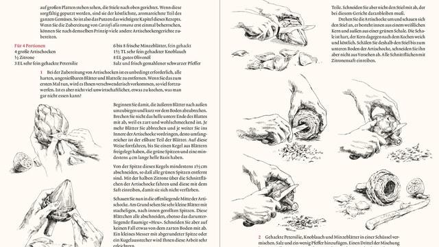 Eine Seite aus dem Kochbuch von Marcella Hazan