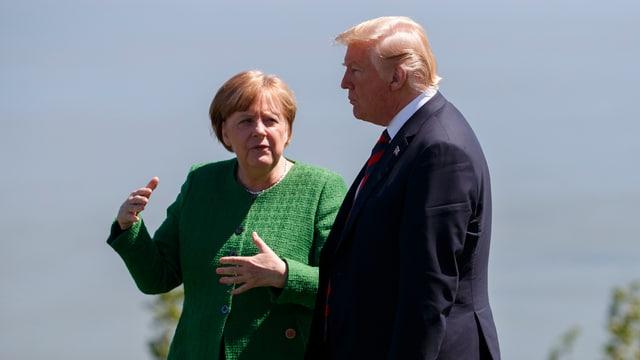 Angela Merkel und Donald Trump am G7-Gipfel