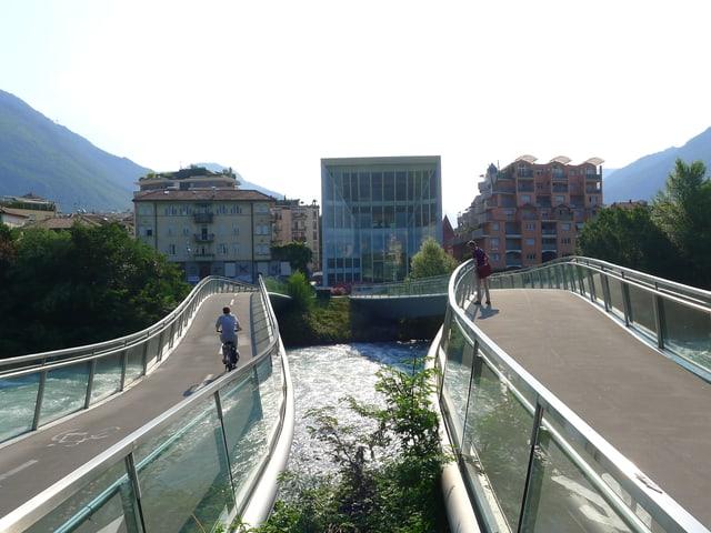 Zwei Brücken in Bozen