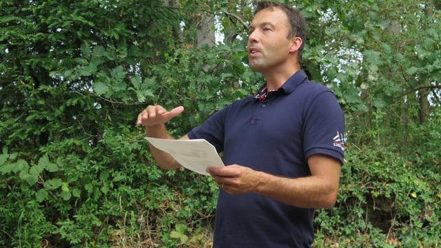 Jörg Hässig erklärt die Auswirkungen des Klimawandels auf die St.Galler Wälder