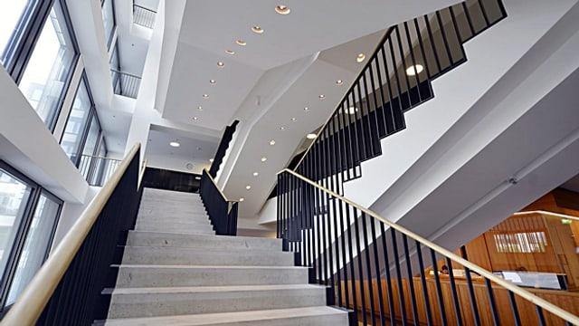Treppenhaus der Pädagogischen Hochschule an der Zürcher Europa-Allee, erbaut von Architekt Max Dudler.