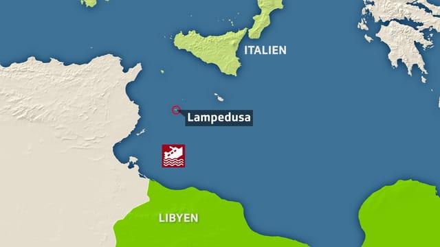 Karte Lampedusa
