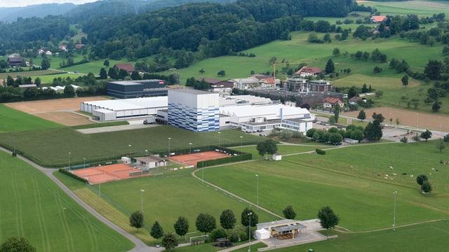 Eine Luftaufnahme des Trisa-Geländes in Triengen.