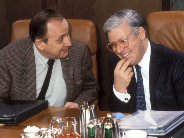 Genscher und Schmidt