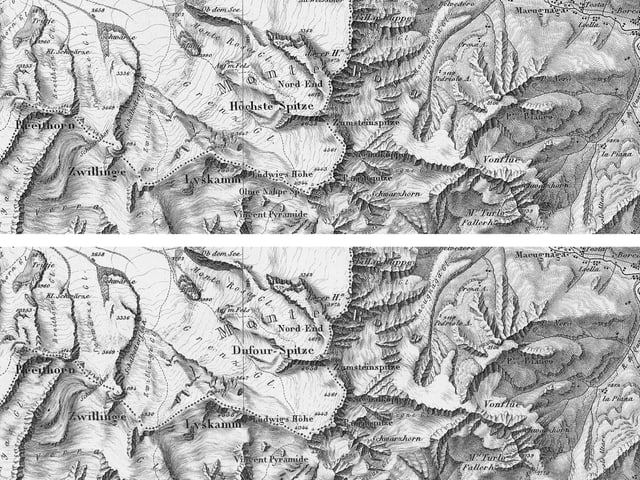 Schwarz-Weiss-Karte