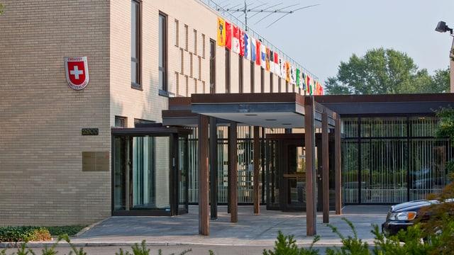 Aussenansicht der Schweizer Botschaft in Washington