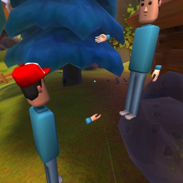 Zwei Avatare der Social-VR-Plattform «AltspaceVR»