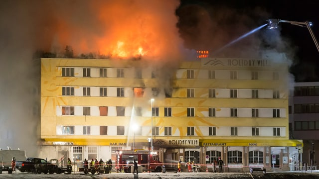 Das Posthotel in Vollbrand