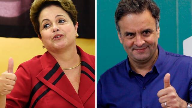 Rousseff und Neves