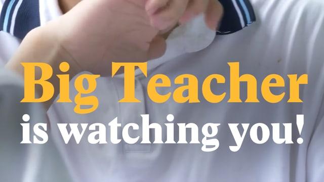 Laschar ir video «Big Teacher is watching you!»