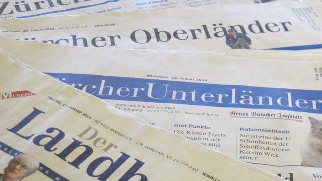Zürcher Landzeitungen