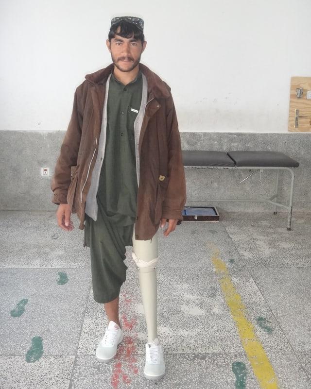 Abdul wurde von einem Sprengsatz schwer verletzt.