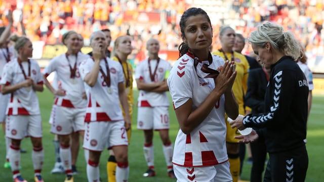 Dänische Fussballerinnen.