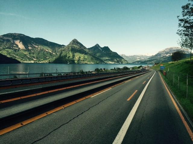 Autobahn am Vierwaldstättersee
