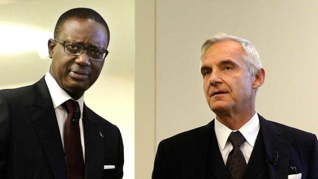Konzernchef Tidjane Thiam und Verwaltungsratspräsident Urs Rohner.