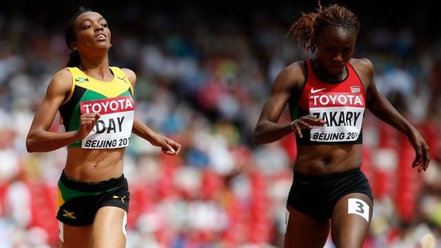 Joyce Zakary (r.) wurde in Peking positiv auf Doping getestet.