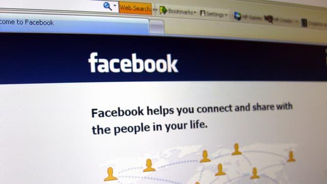 Die Einstiegsseite von Facebook.