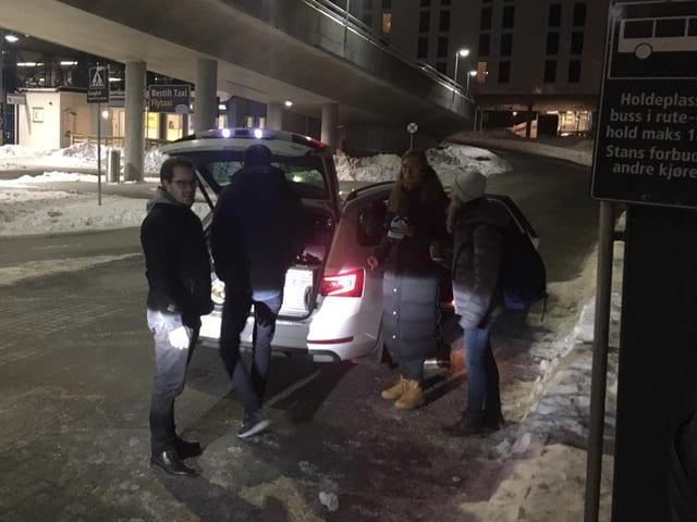 Die SRG-Mitarbeiter in Trondheim.