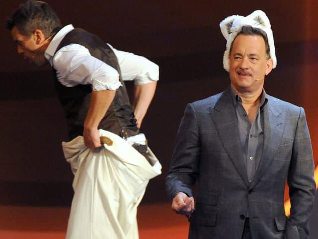 Moderator Markus Lanz und Tom Hanks