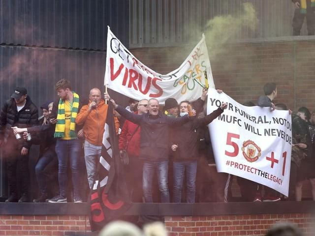 Fans protestieren in Manchester