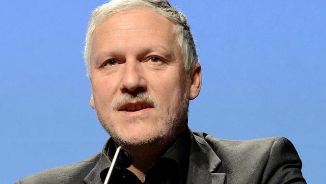 Peter Gomm bei einer Ansprache