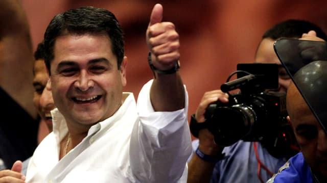 Das neue Staatoberhaupt: der konservative Juan Orlando Hernández.