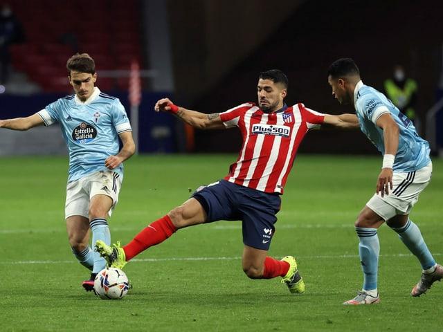Luis Suarez lässt gegen Celta Vigo Punkte liegen.
