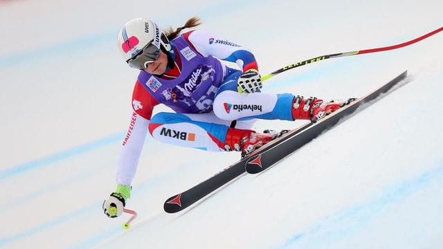 Beatrice Scalvedi durant la cursa rapida a Sotschi.
