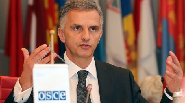 Bild von Didier Burkhalter in seiner Funktion als OSZE-Vorsitzender.