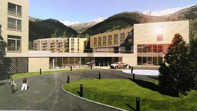 Visualisaziun per in nov hotel sin l'areal dal Hotel Acla da Fontauna