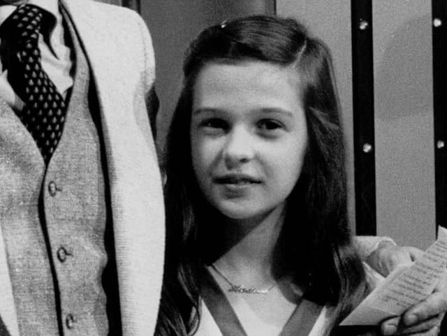 Andrea Jürgens als 10-Jährige an der Seite von Dieter Thomas Heck.