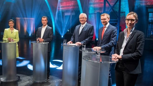 Die Spitzenkandidaten der kleineren Partein