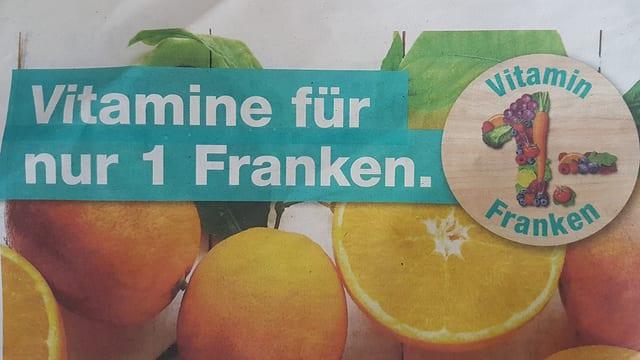 Migros Werbung: Vitamine für einen Franken