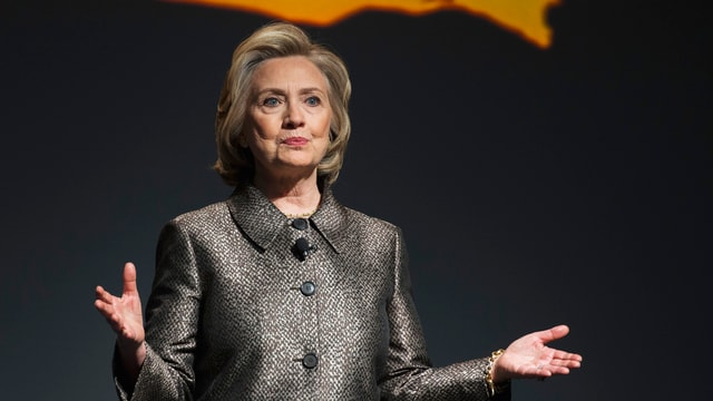 Hillary Cliton bei Anlass in New York.
